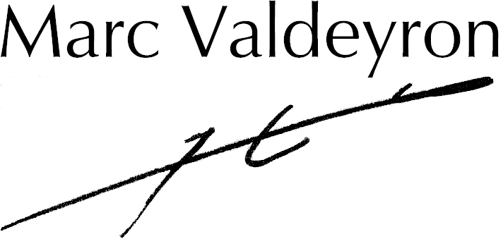 Marc Valdeyron signature